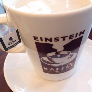 My tea at Einstein Kaffee..